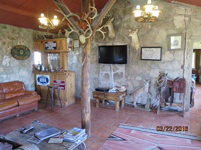 Inside living room main lodge flying w ranch for The family room on main